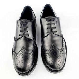 Salvatore Ferragamo Black Leather Brogues Shoes